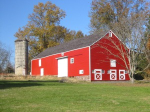 The 18th Century English Barn has been beautifully stained and trim replaced thanks to funding from the 1772 Foundation.