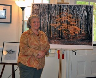Joann Devine with her art