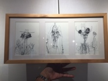 Ben Kator - Three original Ink Drawings, signed and framed
