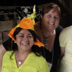 Eileen Loughnane, Event Chair and Kristina Lloyd, Silent Auction Chair in Barn