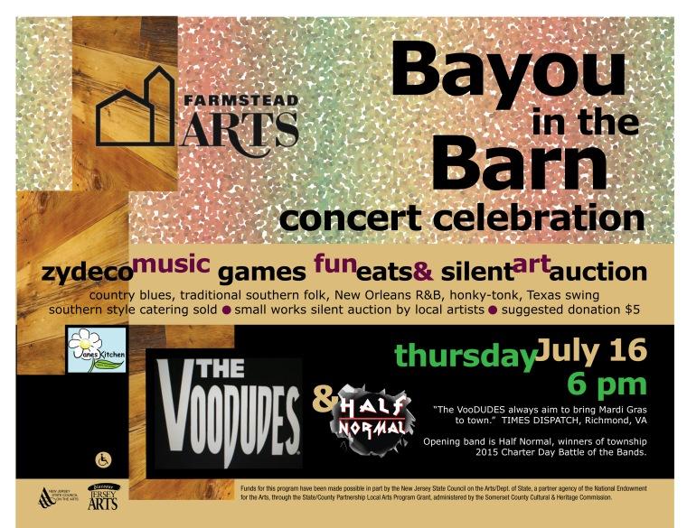 Bayou in the Barn July 16