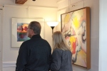 Guests at the CAG show, art by Gail Winbury