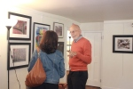 Don Kuhn discusses his art at the CAG opening
