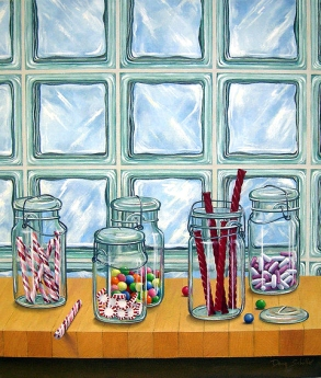 """Mason Jars with Candy"" by Faculty member Doug Schiller"