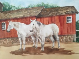 horses-and-barn-linda-arnold-watercolor
