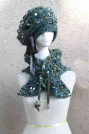 Deborah Lavine - Green Hat with Matching Neckerchief