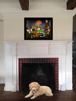 Farmstead Fireplace Puppy!