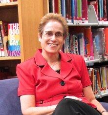 carol-levin-librarian-red-jacket