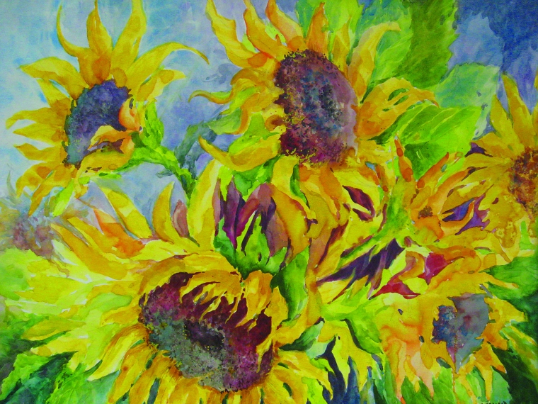 Solar Energy 22x30 watercolor, Linda Arnold