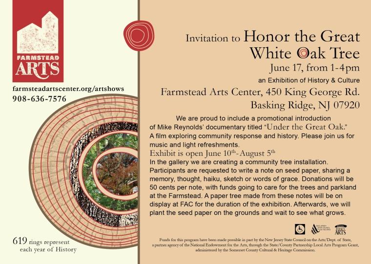 Great White Oak Tree invitation
