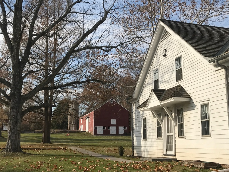 House and Barn in the Fall