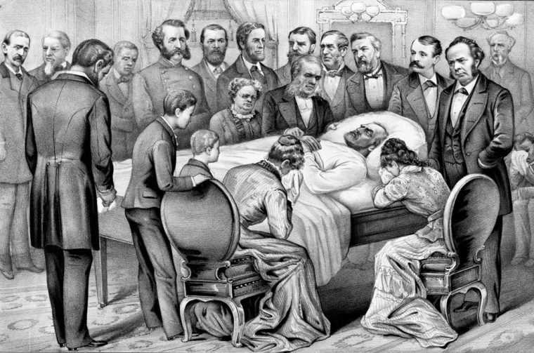 Death of General James A. Garfield (Lithograph by Currier & Ives - Library of Congress)